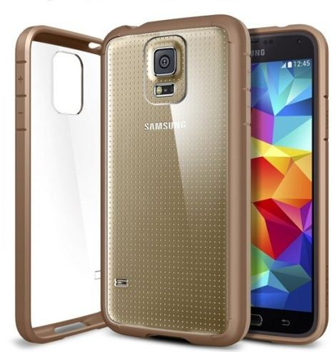 finest selection 516d2 a3063 Spigen Samsung Galaxy S5 Case Bumper ULTRA HYBRID (Cooper Gold)