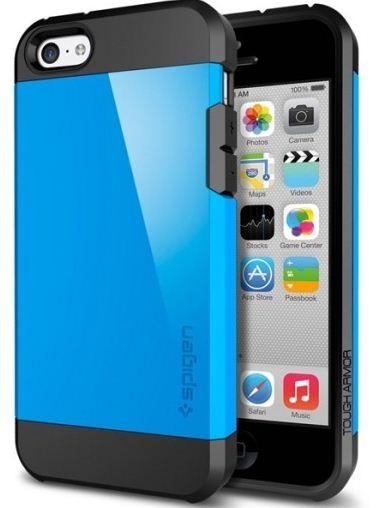 official photos b402b 75d61 SPIGEN SGP Case Tough Armor for iPhone 5c (Dodger Blue)
