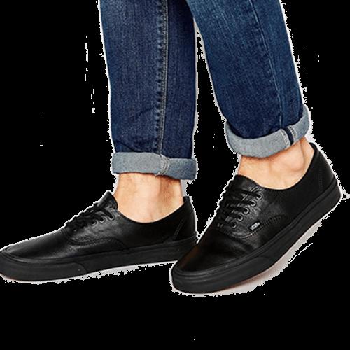 b9ce14a6e860 Buy online Vans Authentic Decon Leather Plimsolls at low price   get ...