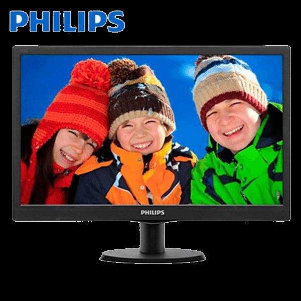 Philips 193V5LSB V-Line 18.5 inch Monitor (Black, Philips Warranty)