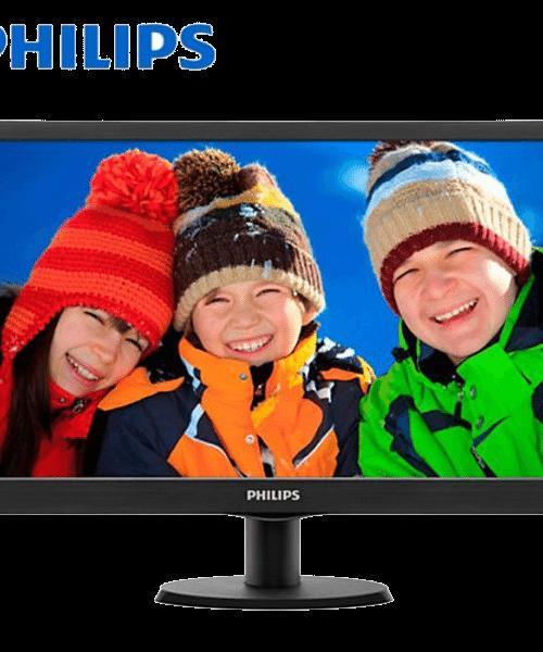 Philips 203V5LSB26 V-Line 19.5 inch Monitor (Black, Philips Warranty)