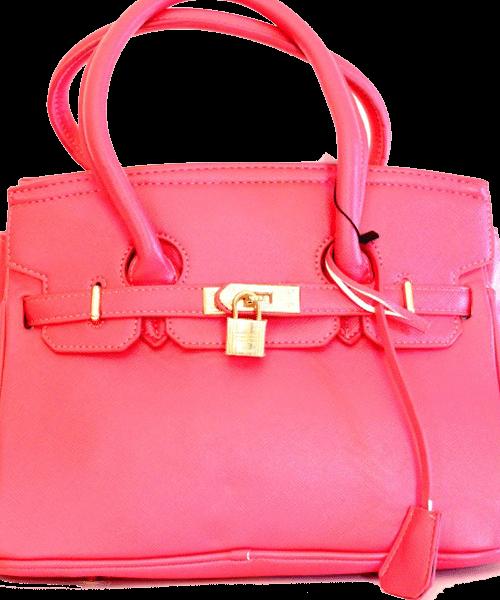 Hermes structured handbag pink P750