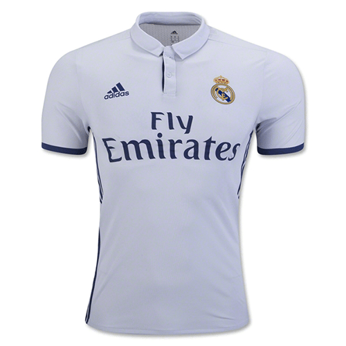 Real Madrid 16/17 Authentic Home Soccer Jersey