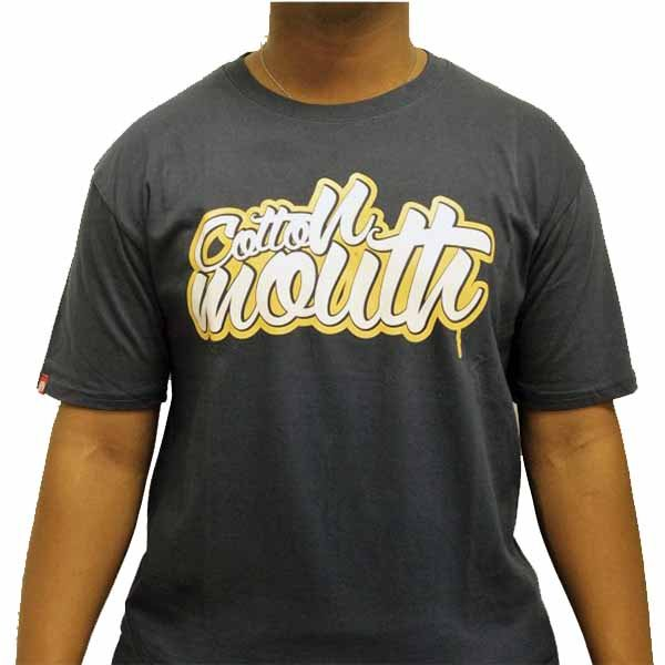 d8ba23bb3ea Buy online Cotton Mouth Black Wavvy T-shirt low price   get delivery ...