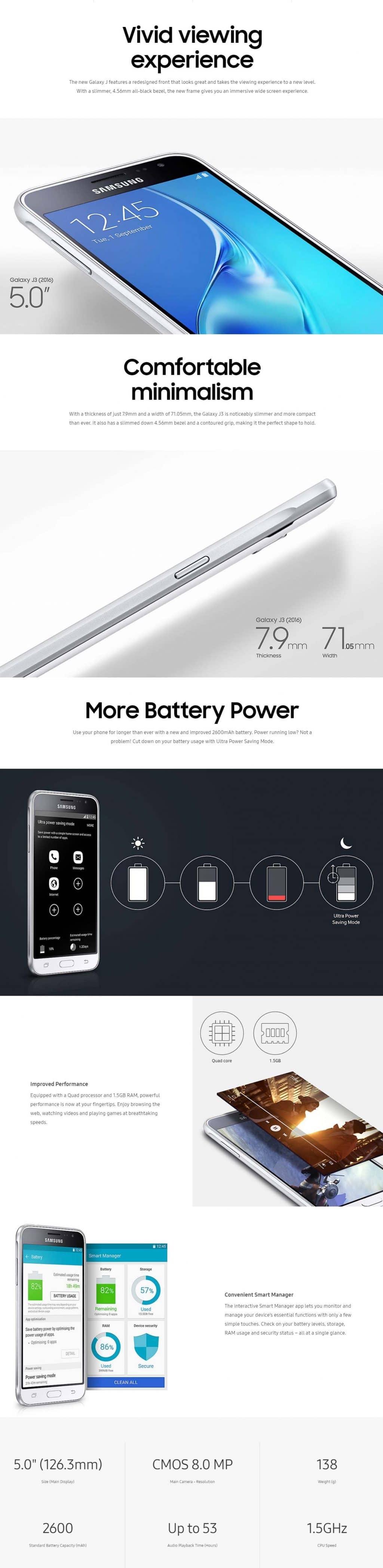 Samsung Galaxy J3 2016 (Botswana Warranty)
