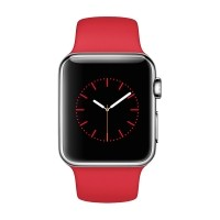 Apple Watch Sport 42mm Silver Aluminum Case with Red Sport Band - MMED2MY / A