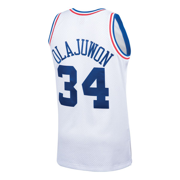 0271079375a ... Men's Western Conference Hakeem Olajuwon Mitchell & Ness White 1989 All- Star Hardwood Classics Swingman