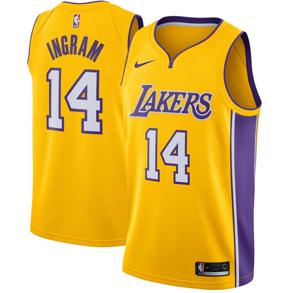 c020e9e1b4c Men s Los Angeles Lakers Brandon Ingram Nike Yellow Swingman Jersey - Icon  Edition