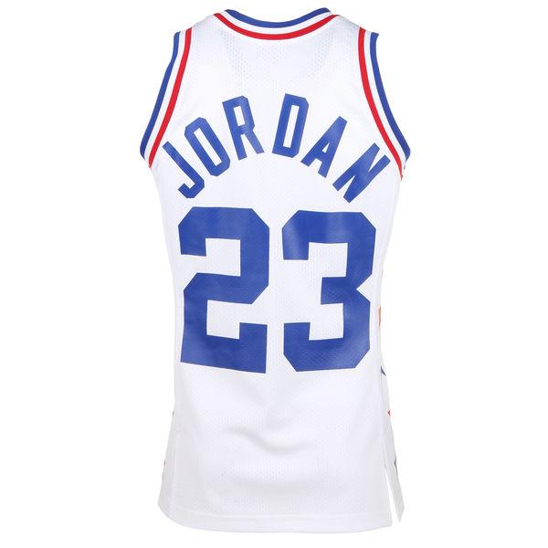 917ee1601f6 Mens 1985 East All-Stars Michael Jordan Mitchell & Ness White Hardwood  Classics Authentic Jersey