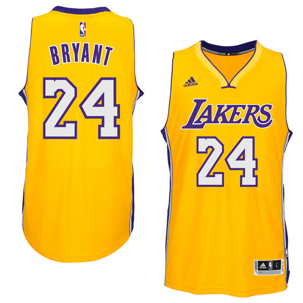 best sneakers 1f373 18382 ... Men s Los Angeles Lakers Kobe Bryant adidas Gold Player Swingman Home  Jersey ...