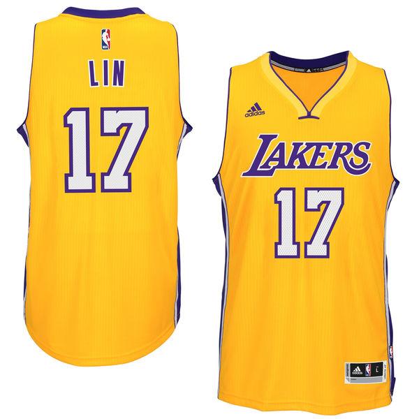 33b57b0fc5d Men's Los Angeles Lakers Jeremy Lin adidas Gold Player Swingman Home Jersey.  Men's Los Angeles Lakers Jeremy Lin adidas Gold Player Swingman Home Jersey