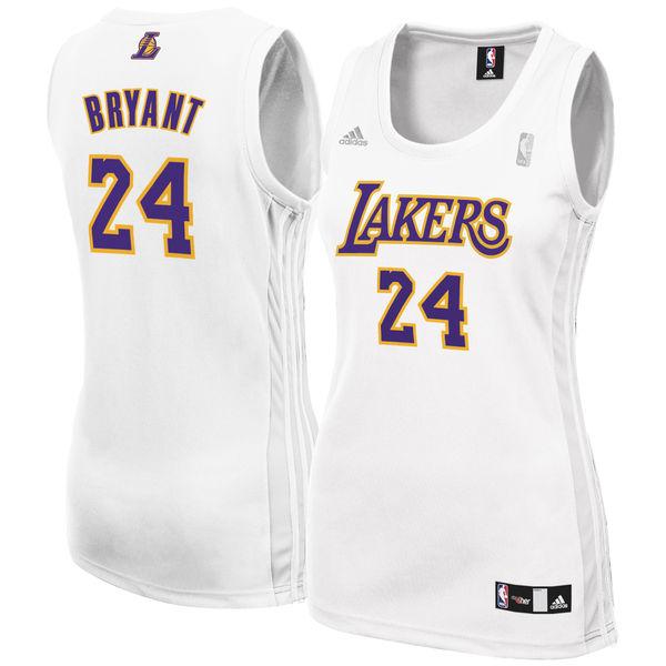 897c55e73 ... Women s Los Angeles Lakers Kobe Bryant adidas White Fashion Replica  Jersey ...