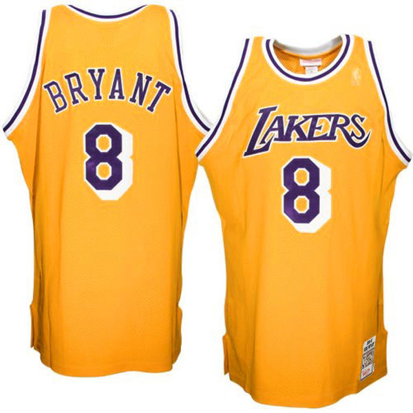 7a4d2f3f28d ... Mitchell   Ness Kobe Bryant Los Angeles Lakers 1996-1997 Hardwood  Classics Throwback Authentic Home ...