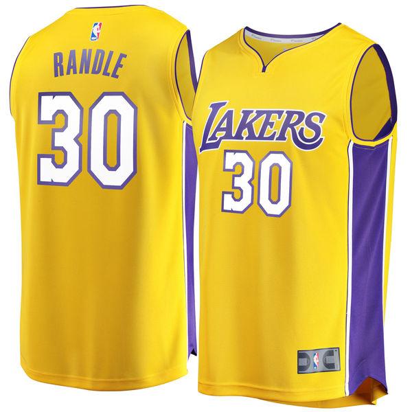 95d63602603 Men's Los Angeles Lakers Julius Randle Fanatics Branded Gold Fast Break  Replica Jersey - Icon Edition