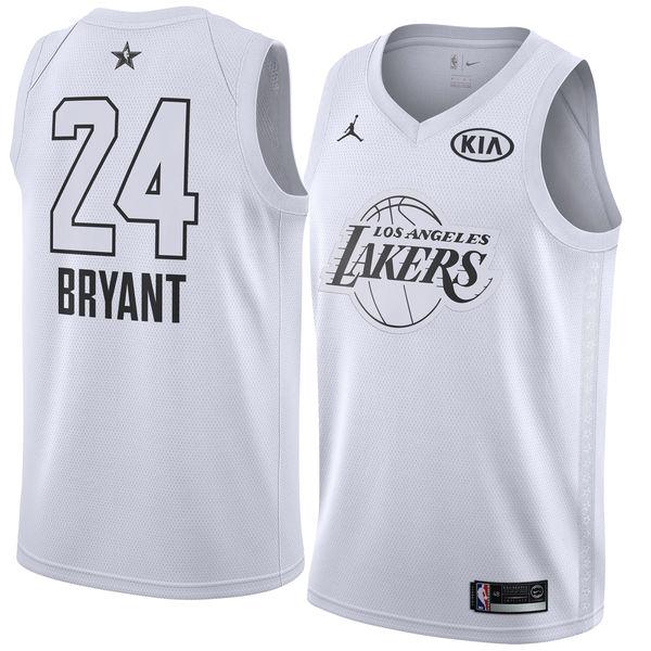 d72a7a3be Men s Los Angeles Lakers Kobe Bryant Jordan Brand White 2018 All-Star Game Swingman  Jersey