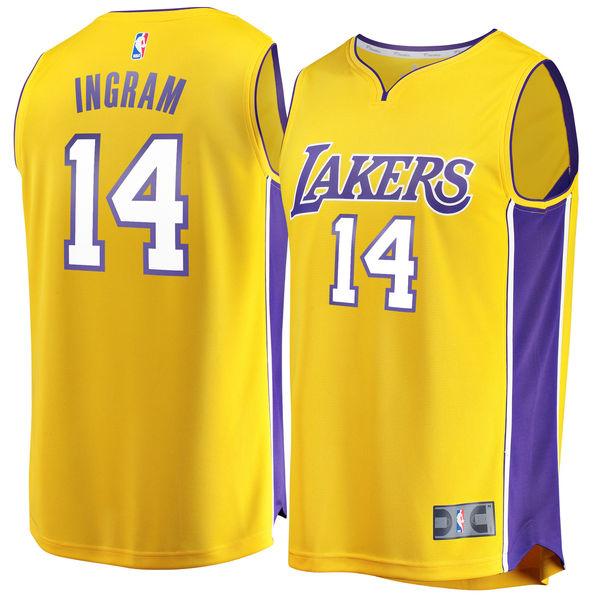 0748968f883 Men's Los Angeles Lakers Brandon Ingram Fanatics Branded Gold Fast Break Replica  Jersey - Icon Edition ...