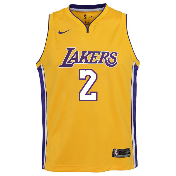 c85bc8d35 ... Youth Los Angeles Lakers Lonzo Ball Nike Yellow Swingman Jersey - Icon  Edition ...