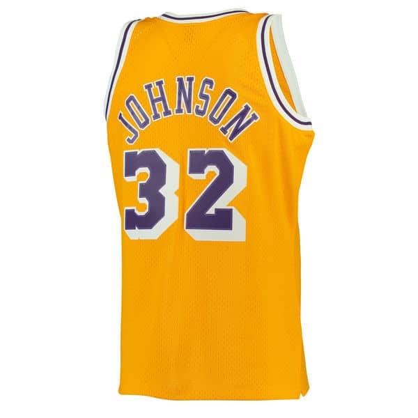 22c123a66 Men's Los Angeles Lakers Magic Johnson Mitchell & Ness Gold 1984-85  Hardwood Classics Swingman