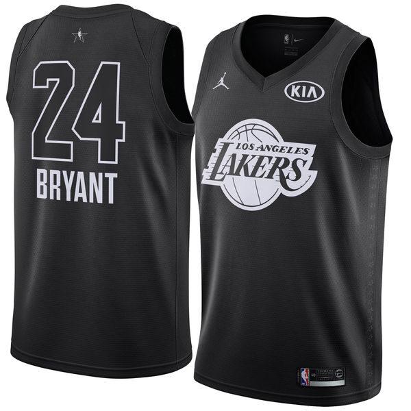 Men s Los Angeles Lakers Kobe Bryant Jordan Brand Black 2018 All-Star Game  Swingman Jersey d573dc7b2