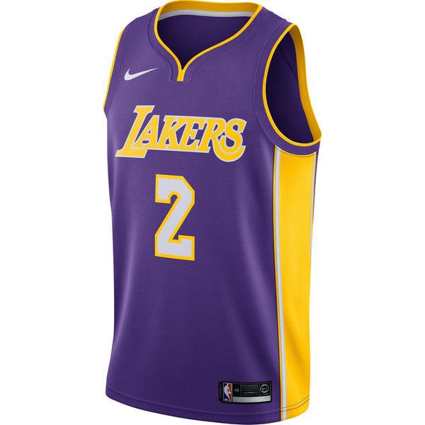 20aa975f8e784 Men's Los Angeles Lakers Lonzo Ball Nike Purple Swingman Jersey Statement  Edition