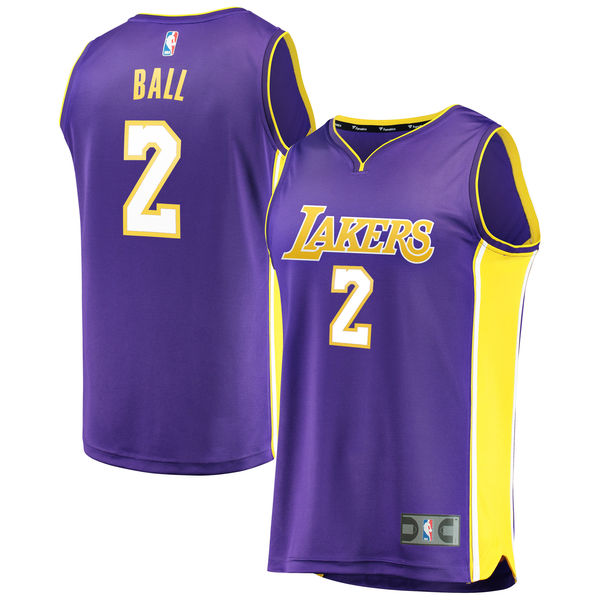 322fb70e69b8 Men s Los Angeles Lakers Lonzo Ball Fanatics Branded Purple Fast Break  Replica Jersey - Statement Edition