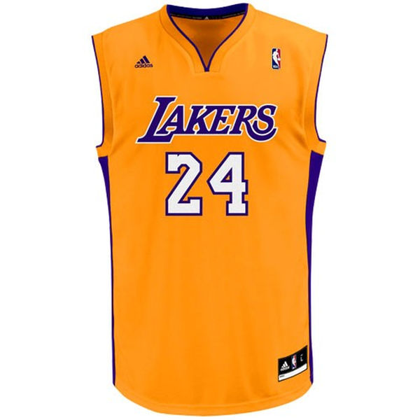 194952cbcb6 ... Mens Los Angeles Lakers Kobe Bryant adidas Gold Replica Home Jersey ...
