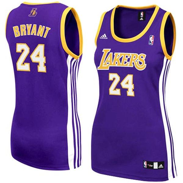 5f87b4f7d ... adidas Kobe Bryant Los Angeles Lakers Women s Replica Jersey-Purple ...