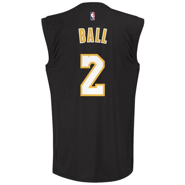 7b68543a452 ... Men s Los Angeles Lakers Lonzo Ball adidas Black Chase Fashion Replica  Jersey