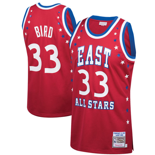 buy online 05769 68f46 Men's Eastern Conference Larry Bird Mitchell & Ness Red 1983 All-Star  Hardwood Classics Authentic Jersey