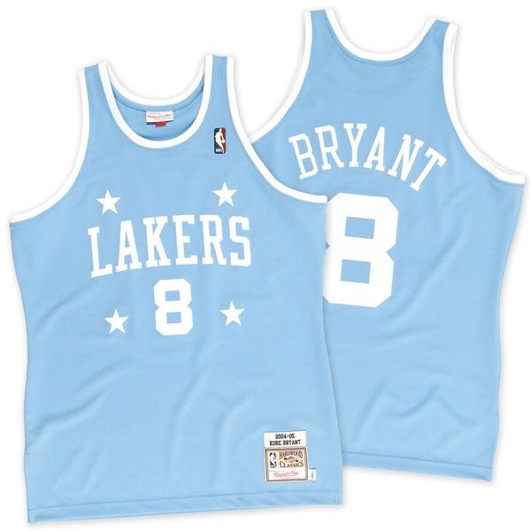 Men s Los Angeles Lakers Kobe Bryant Mitchell   Ness Light Blue 2004-2005  8 5ab16699e