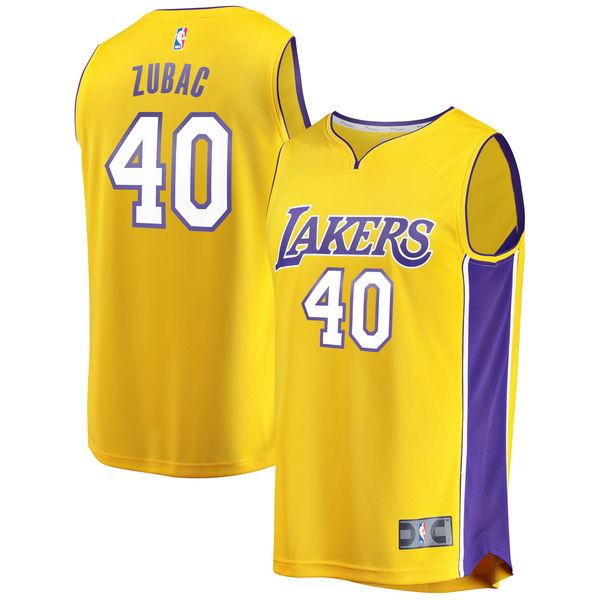 1ffda9e24 ... Men s Los Angeles Lakers Ivica Zubac Fanatics Branded Yellow Fast Break  Replica Player Jersey - Icon ...