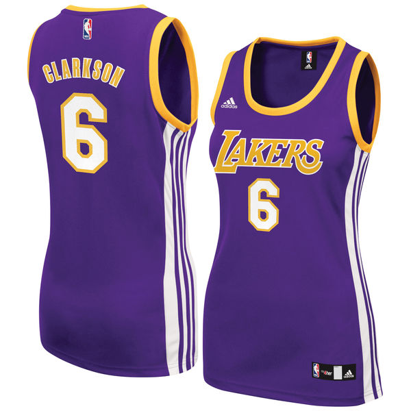 352c28d07 ... Women s Los Angeles Lakers Jordan Clarkson adidas Purple Road Replica  Jersey ...