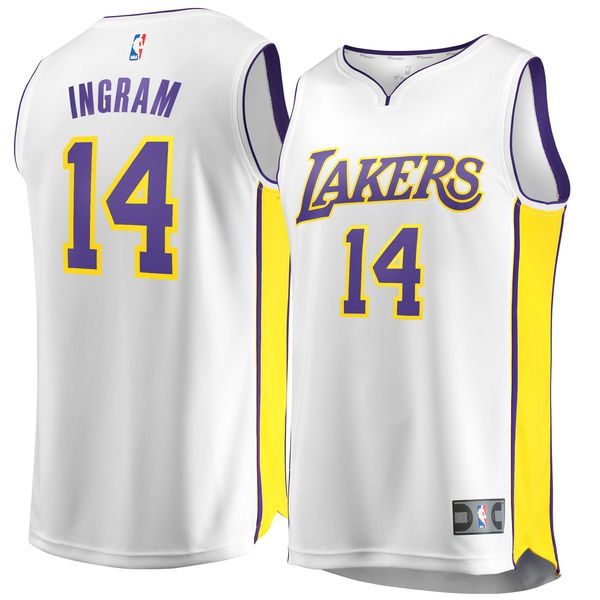 promo code 9dcd9 20b92 Men's Los Angeles Lakers Brandon Ingram Fanatics Branded White Fast Break  Replica Jersey – Association Edition