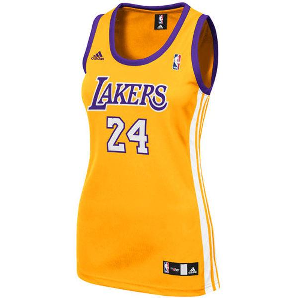 ... adidas Kobe Bryant Los Angeles Lakers Women s Replica Jersey - Gold ... cf162107d