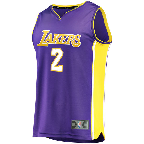 e5d7af24a ... Men s Los Angeles Lakers Lonzo Ball Fanatics Branded Purple Fast Break  Replica Jersey - Statement Edition ...