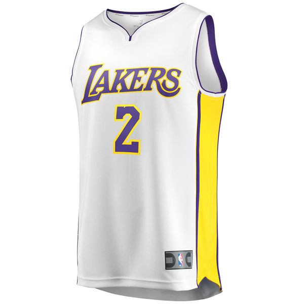 6c224227879 ... Youth Los Angeles Lakers Lonzo Ball Fanatics Branded Gold Fast Break  Replica Jersey - Icon Edition ...