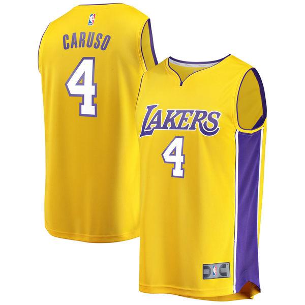 1f6693f26 Men s Los Angeles Lakers Alex Caruso Fanatics Branded Yellow Fast Break  Replica Player Jersey – Icon Edition