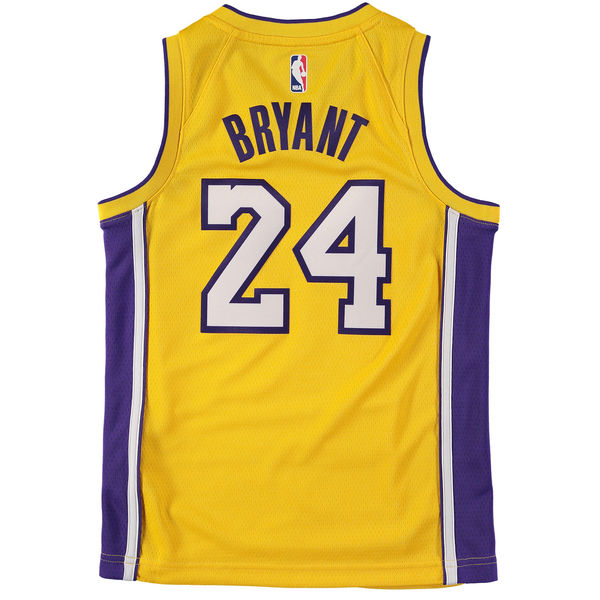pretty nice 715b9 65b24 Youth Los Angeles Lakers Kobe Bryant Nike Gold Icon Hardwood Classic  Swingman Jersey