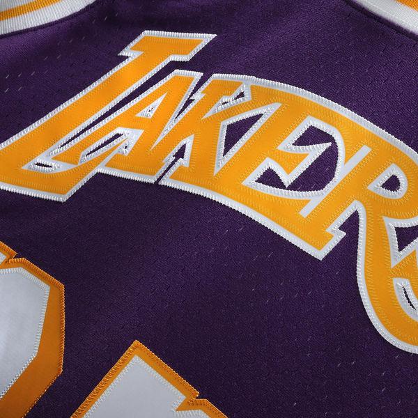 ... Men s Los Angeles Lakers Magic Johnson Mitchell   Ness Purple 1984-85  Hardwood Classics Swingman ... 3b40a2be5