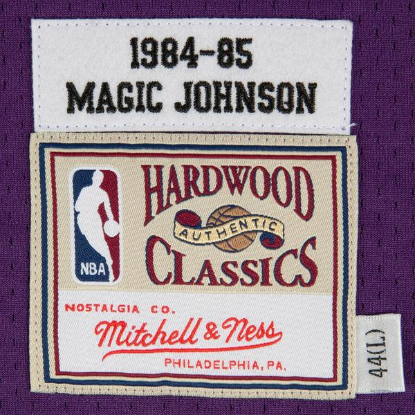 4915050b1 ... Mitchell   Ness Los Angeles Lakers Magic Johnson 1984-85 Hardwood  Classics Authentic Road Jersey