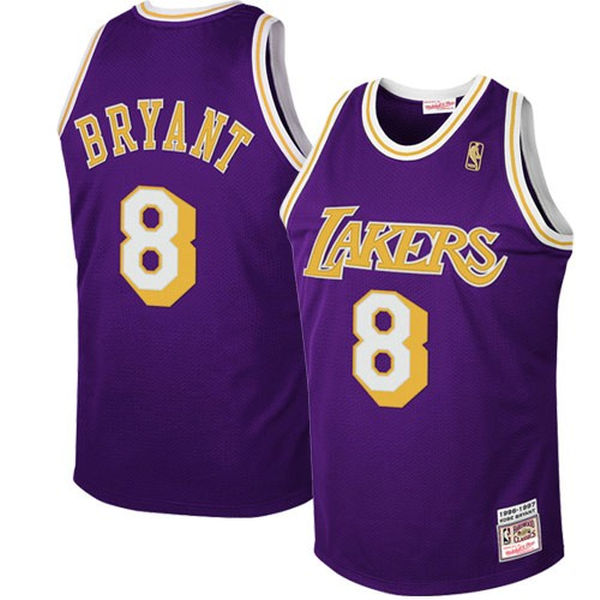 ... Mitchell   Ness Los Angeles Lakers  8 Kobe Bryant Purple 1997 Authentic  Hardwood Classics Road ... 1c279af04