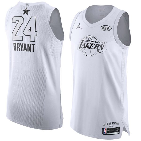 65ec917284b2 Men s Los Angeles Lakers Kobe Bryant Jordan Brand White 2018 All-Star Game  Authentic Jersey