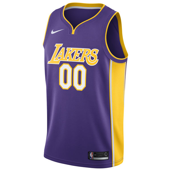 86ef4b4cc ... Men s Los Angeles Lakers Nike Purple Custom Swingman Jersey - Icon  Edition ...