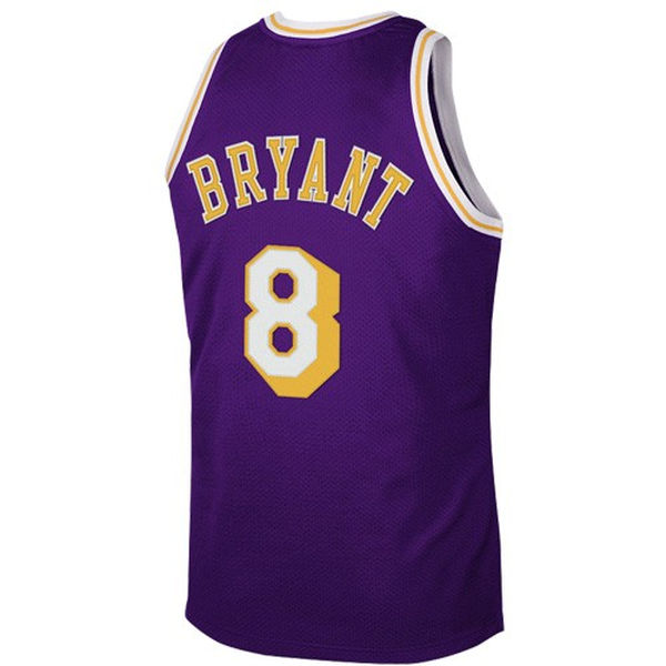 ... Mitchell   Ness Los Angeles Lakers  8 Kobe Bryant Purple 1997 Authentic  Hardwood Classics Road ... 3d2764b4a