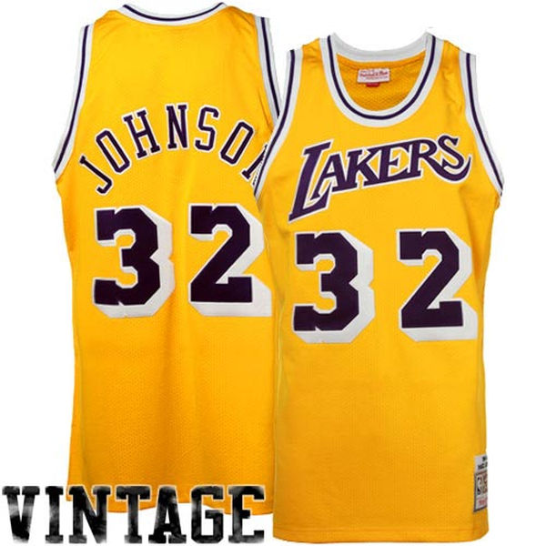 5f3466a03533 Mitchell   Ness Earvin   Magic   Johnson Los Angeles Lakers Hardwood  Classics Authentic
