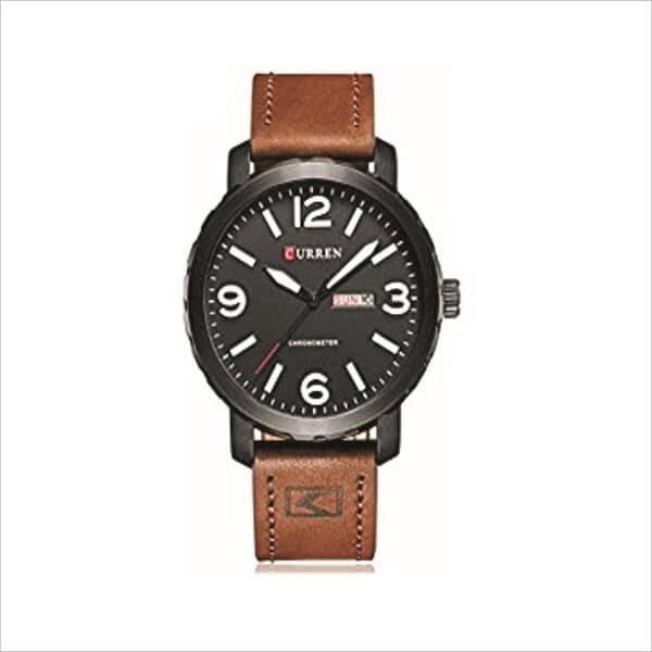 Men Curren Watches Top Brand Luxury Quartz Leather Band Wristwatch