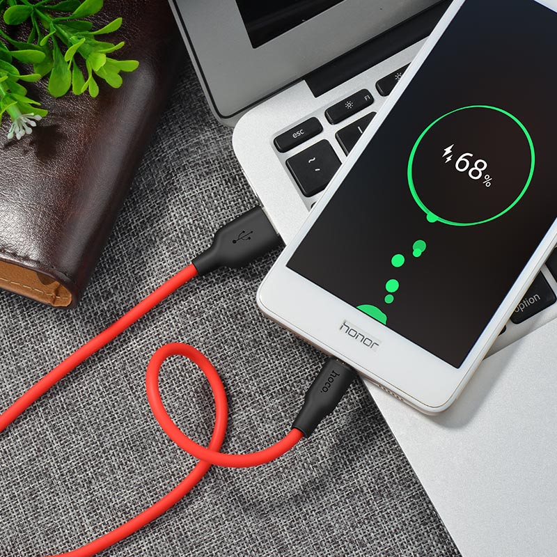 x21 silicone micro charging cable charging